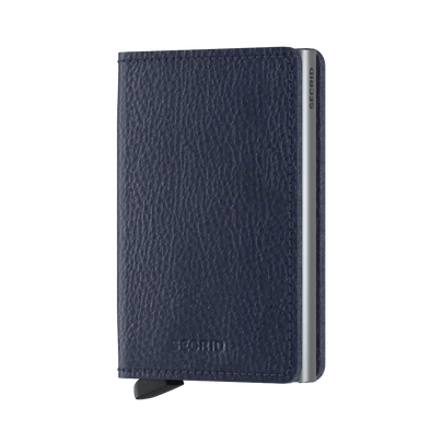 Secrid Slim Wallet- Veg Navy Silver