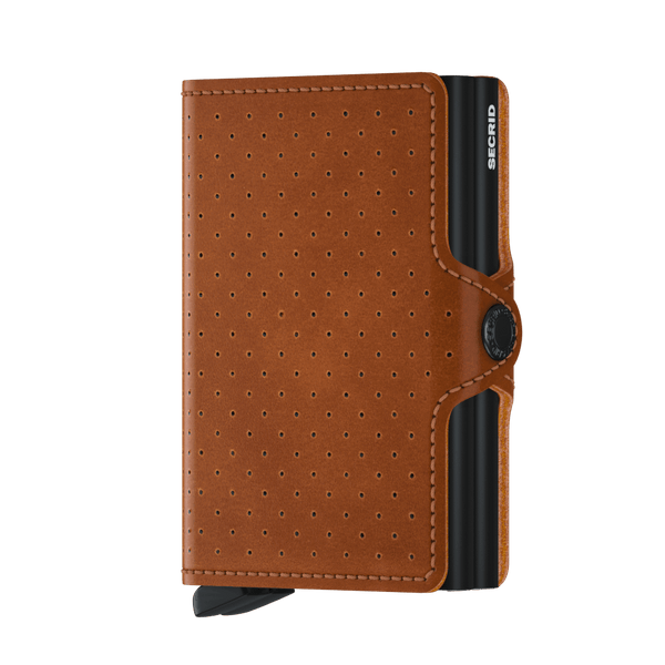 Secrid Twin Wallet - Perforated Cognac
