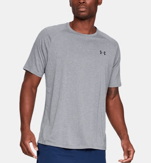 Under Armour Light Heather Grey Tech 2.0 Short Sleeve - 1326799 - 036