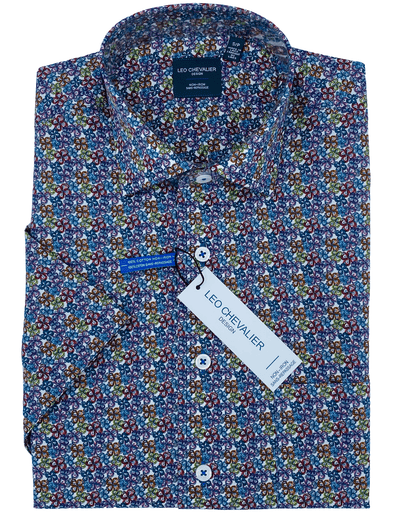 Leo Chevalier Tall Sport Shirt Short Sleeve  524364 QT 9000 Bright Floral