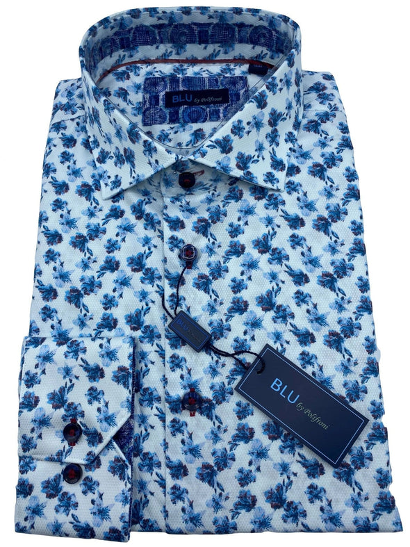 Blu by Polifroni Sport Shirt-B 2049348 15 100% Cotton