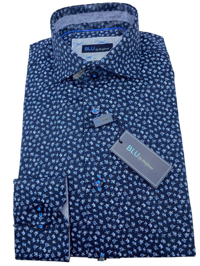 Blu by Polifroni Sport Shirt- B 2049347 15 100% Cotton