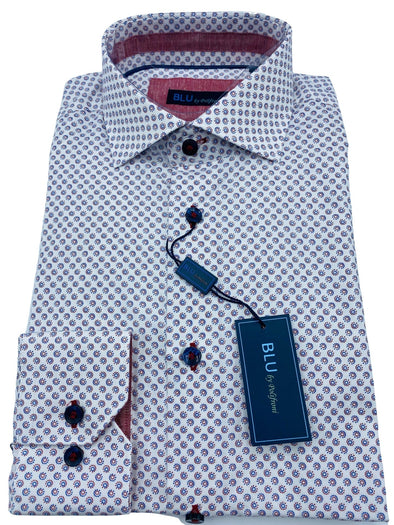 Blu by Polifroni Sport Shirt-B 2049334 49 100% Cotton
