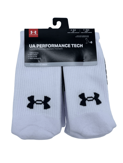 Under Armour Performance Tech White Crew Socks U6785C6