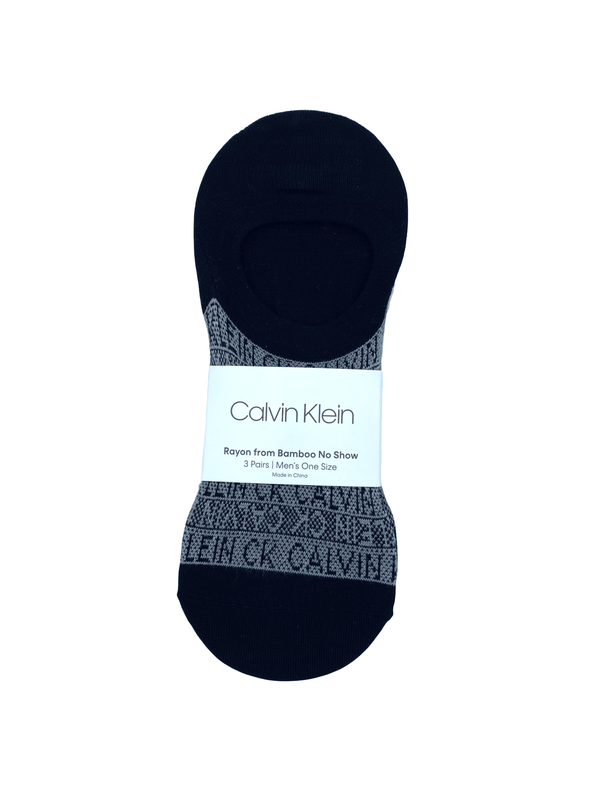 Calvin Klein Rayon Bamboo No Show Three Pack Sock - MCJ127 - MCG1