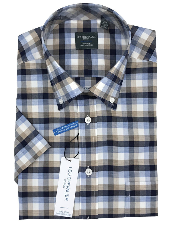 Leo Chevalier Short Sleeve Sport Shirt - 520387 1300