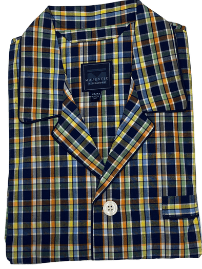 Multi Color Plaid Cotton Pyjamas 99981 099 Multi