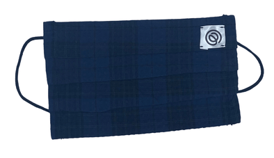 Easy Mondays Pleated Mask- Navy Blue Madras
