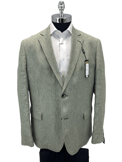 Leaf Green Linen Sports Coat 25-1357 Size 48R Only