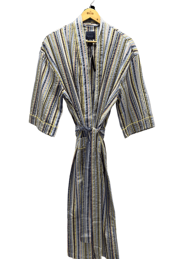 Luxury Cotton Lounge Robe 12124120 Sun 701