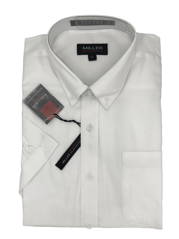 Miller Performance Short Sleeve Shirts - Big & Tall White
