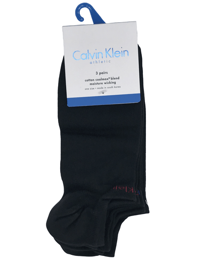 Calvin Klein Ankle 3-Pack MCL376 Black