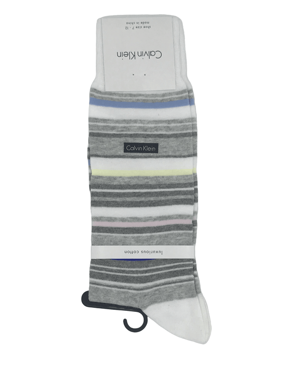Calvin Klein Barcode Socks -White MCP232 MG5