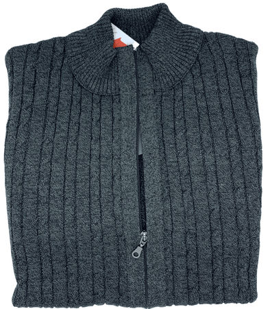 Gran Sasso Full Zip Cable Knit Sweater 219G28