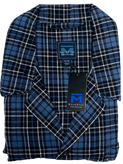 Luxury Pyjama Set Flannel Blue Black Navy Plaid 11824190 001