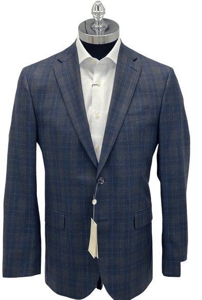 Navy Blue Plaid Sport Jacket - Gibson 1192008 612