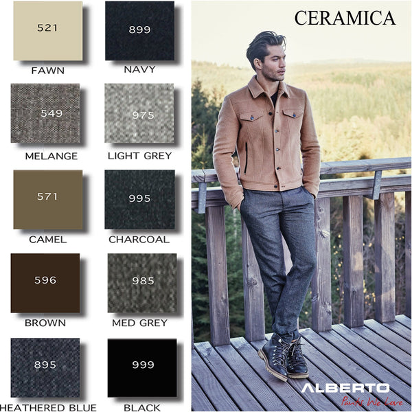 Alberto Ceramica 5-Pocket Beige - 10 Colours