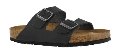 Birkenstock Arizona Matte Black Waxy Leather Sandal - 0752481