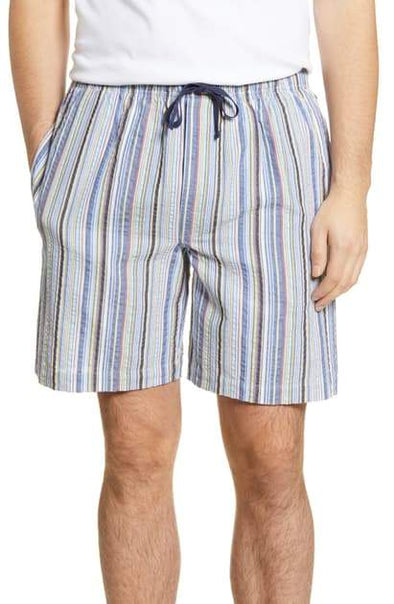 Great Lengths Seersucker Stripe Pyjama Shorts 12126160 701