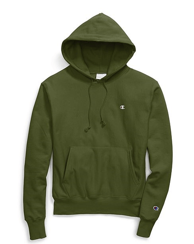 XS Champion Reverse Weave Cargo Olive Pullover Hoodie - GF68