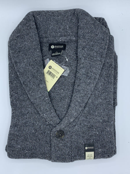 Haggar Shawl Collar Cardigan HMF7F317-R11 DHG LARGE ONLY