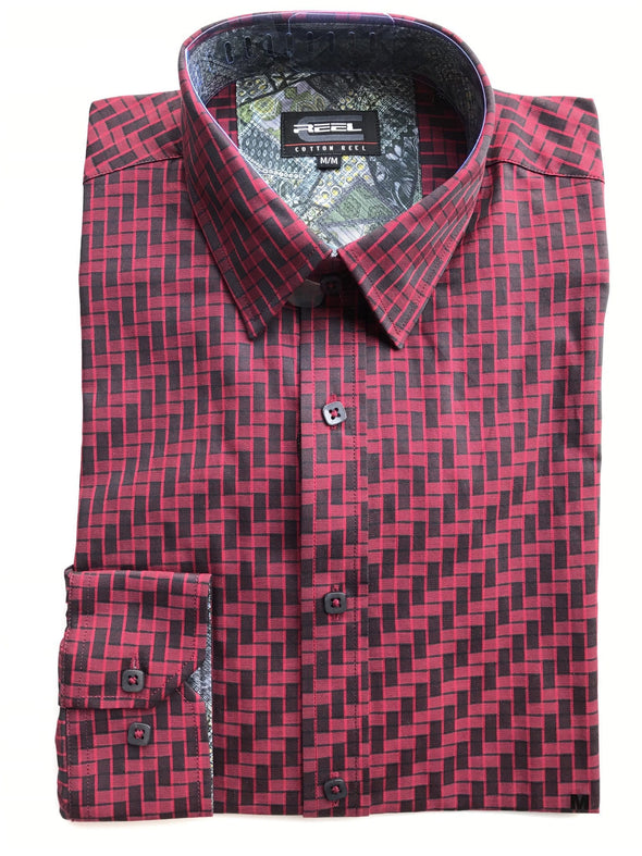 Cotton Reel Sport Shirt - Red Neat