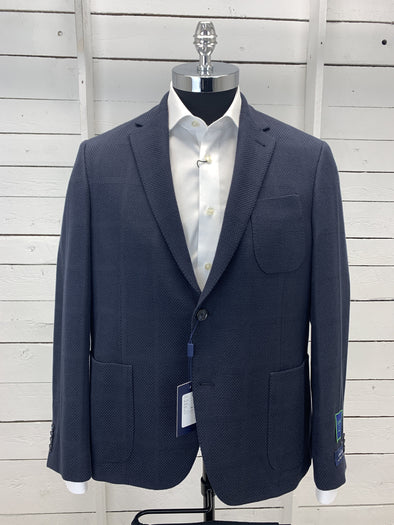 Navy Cotton Angelico Sports Coat Massa 670102 Size 44S Only