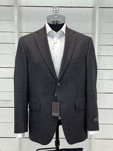 Blue Grey Plaid Sport Jacket - Valuto 152125 164 40S Only