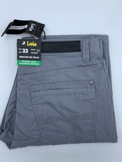 Lois Casual Summer Pant Grey - 1136-7767- 04