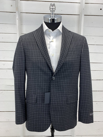 Black Grey Plaid Valenza Sport Jacket - Conway 1172008 2125 38S Only