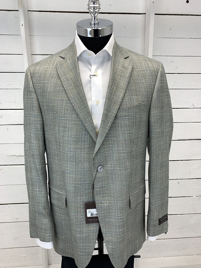 Green Grey Plaid Sport Jacket - Gibson- 151308 164