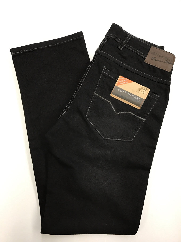 Cotton Reel Black Jeans