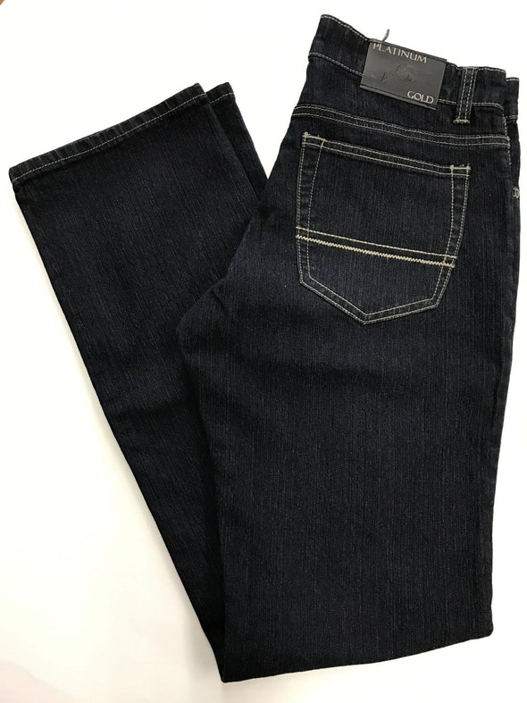 Blue Black Jean - Platinum Gold P3196-454