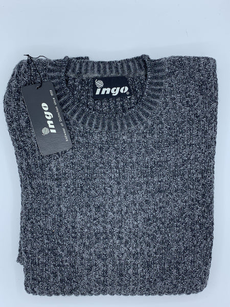 Ingo Crew Neck Aplaca Sweater Black/Grey Lucca