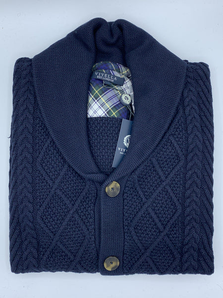 Viyella Cable Knit Cardigan 553641 0998