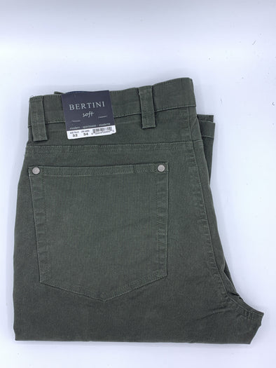 Bertini Soft Casual Pant Dark Olive M1776E097 312