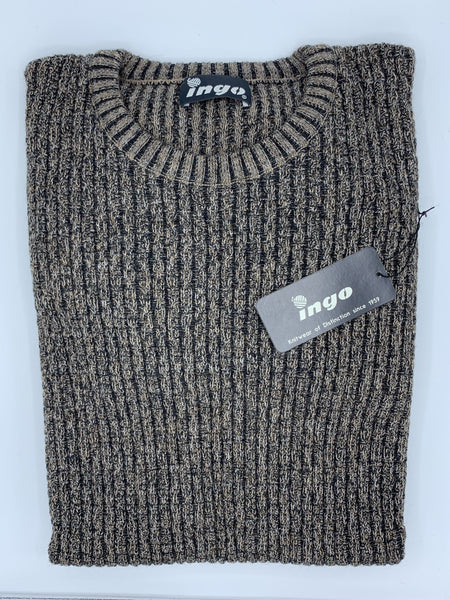 Ingo Crew Neck Aplaca Sweater Beige/Black Lucca
