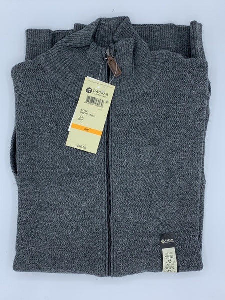Haggar Full Zip Sweater HMF7F318-R11 GRY