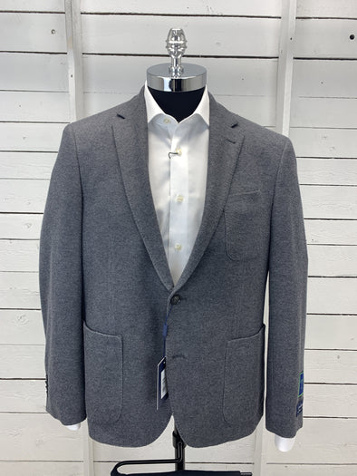 Grey Cotton Angelico Sports Coat Massa 670106 Size 44S Only