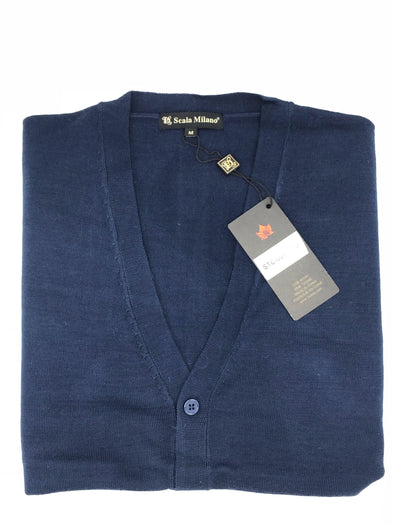 Sergio Louis Cardigan Sweater - STC-005 Navy