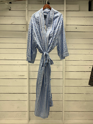 Luxury Cotton Lounge Robe 10724620  450 Sky Blue