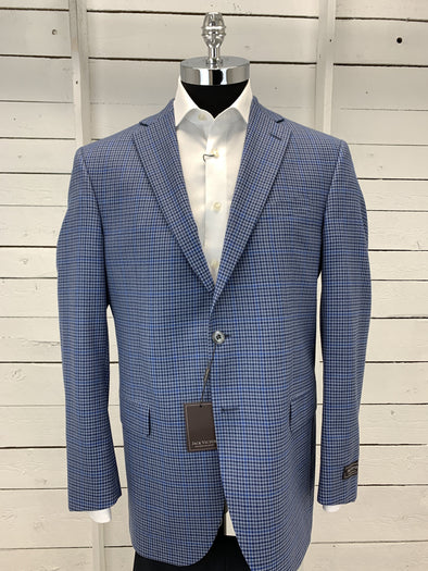 Blue Plaid Sport Jacket - Gibson - 161000 612