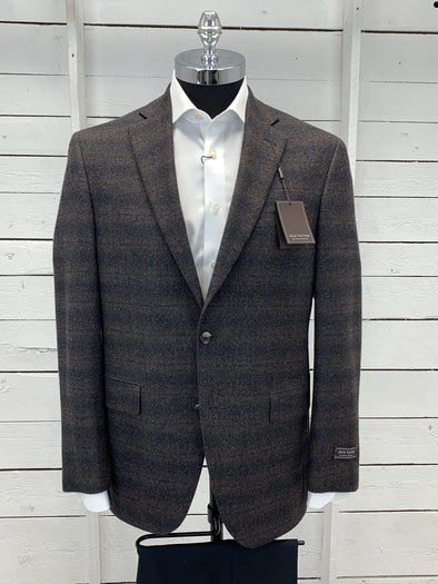 Grey Brown Layered Design Sport Jacket - Gibson RN91013 40R Only
