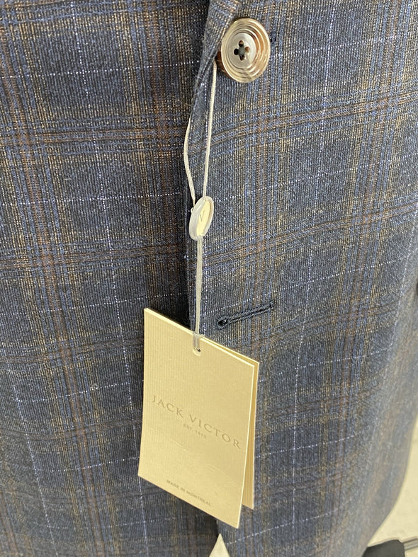 Navy Blue Plaid Sport Jacket - Conway 1192008 605 Size 40 R Only