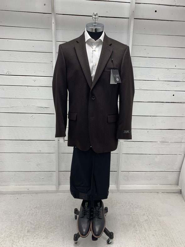 Chocolate Luxe Sports Coat Atlanta Cut 26402 100 Size 44 R Only
