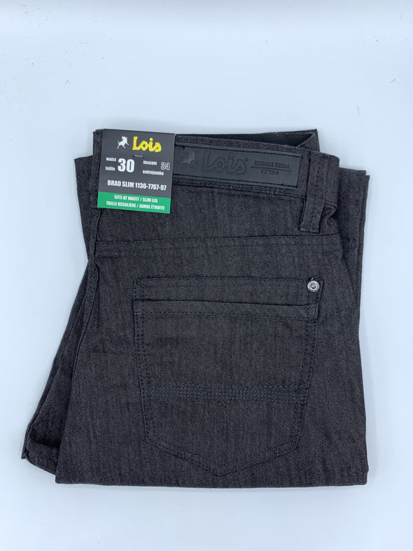 Lois Casual Summer Pant Charcoal - 1136-7767-97