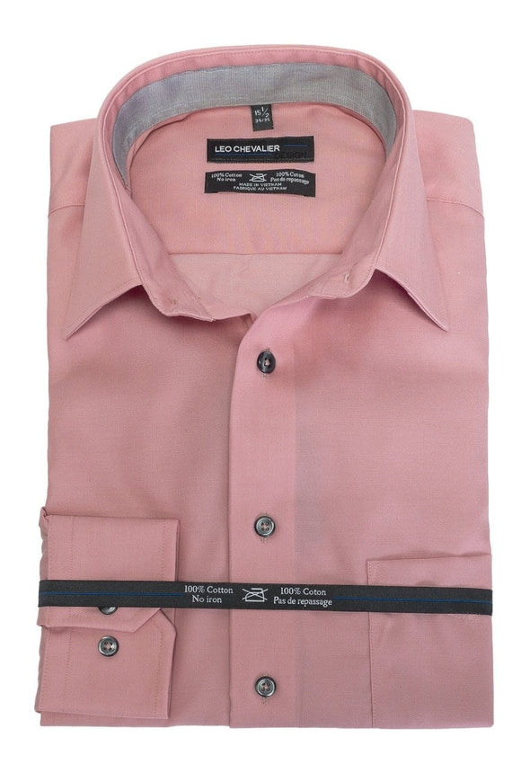 Leo Chevalier Complementary Coral Dress Shirt