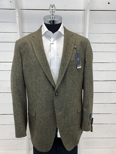 Green Tweed Prestige Sports Coat Santo Cut 40508 100 Size 48T Only