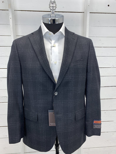 Black Grey Plaid Ethomas Sport Jacket - Conway 152605 2189 40S Only