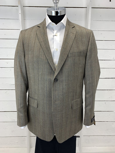 Tan Luxe Sports Coat Urgel Cut 71401 100 Size 44 R Only